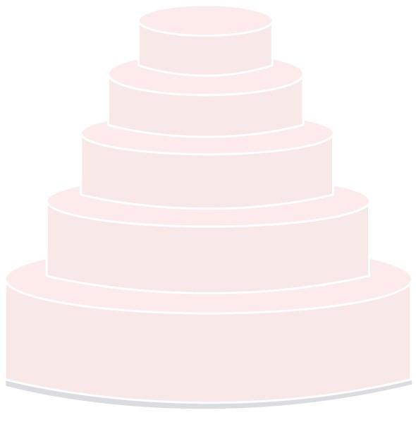 Selbsttragende Hochzeitstorte - fünfstöckig