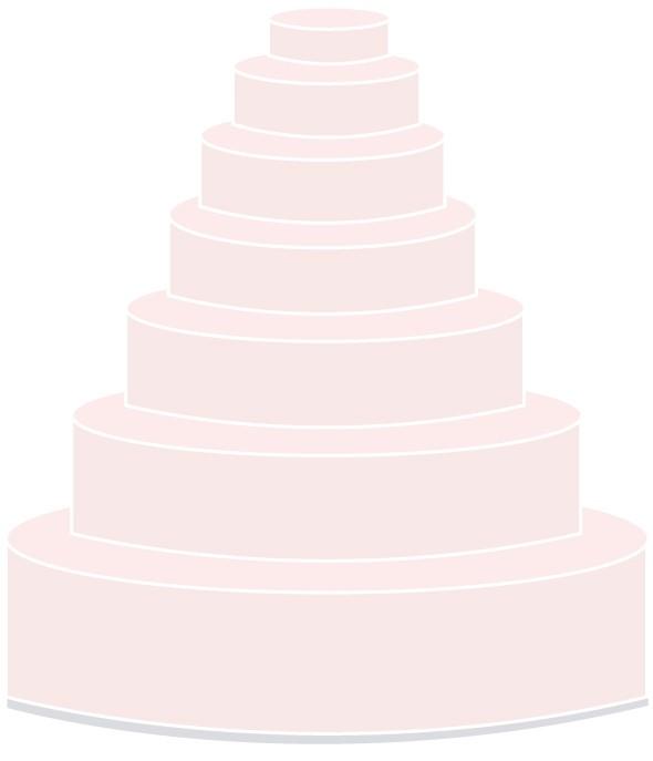 Selbsttragende Hochzeitstorte - siebenstöckig
