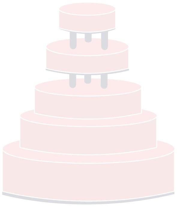 Hochzeitstorte auf Säulen - fünfstöckig