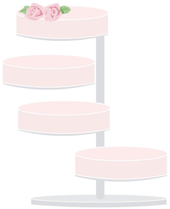 Hochzeitstorte in Form einer Wendeltreppe